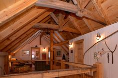 Unique Loft in our Discovery Dream Homes East Hampton  Home #Log #Timberframe #Custom #EastHampton #Loft #DiscoveryDreamHomes
