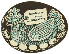 1950s Fortnum & Mason's Easter catalogs, illustration by Edward Bawden.