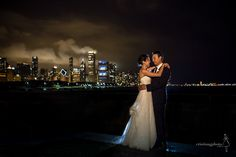 Dramatic skies and gorgeous nighttime views of the Chicago skyline from Shedd Aquarium.
