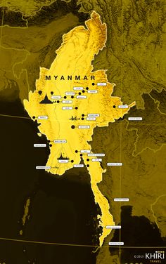 A Clickable Map Of BurmaMyanmar Exhibiting Its Firstlevel - Burma clickable map