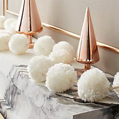 Celebrate the season with modern holiday decor, including unique Christmas accessories, Thanksgiving serveware and Halloween table accents. Unique Christmas Decorations, Modern Christmas Decor, Holiday Ornaments, Christmas Tree, Xmas, Christmas Ideas, Christmas Crafts, White Christmas, Bohemian Christmas