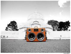 Creative custom suitcase speakers