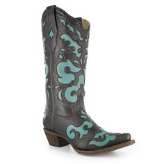 Corral Women's Vintage Distressed Inlay Western Boots