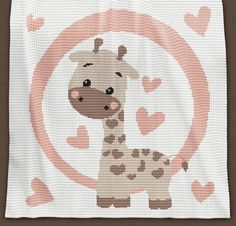 CROCHET Pattern – Baby Blanket Pattern – Giraffe – Crochet Graph – Giraffe Croch… The Effective Pictures We Offer You About Crochet clothes A quality. Crochet Baby Mittens, Crochet Baby Blanket Beginner, Giraffe Crochet, Giraffe Pattern, Knitted Baby Blankets, Baby Knitting, Crochet Sheep, Motifs Afghans, Baby Afghans