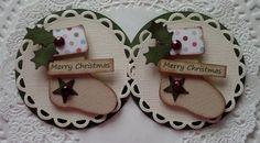 Christmas Stocking Embellishments-Set Of 2 on Etsy, $4.29