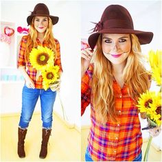 20 seriously cool and easy halloween makeup ideas scarecrows scarecrow makeup diy 10 last minute costumes for halloween procrastinators girlslife solutioingenieria Choice Image