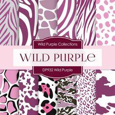 Wild Purple Digital Paper DP932 - Digital Paper Shop - 1