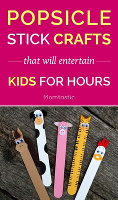 15 popsicle stick crafts that will entertain kids for hours