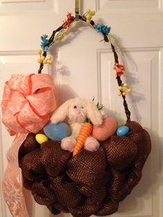 Handmade Easter basket wreath
