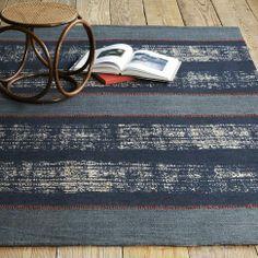 Boro Stripe Printed Jute Rug from west elm #colorcrush
