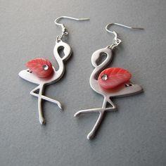 Flamingo earrings.