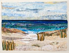Collage Quilts Dune Collage by Ann Loveless