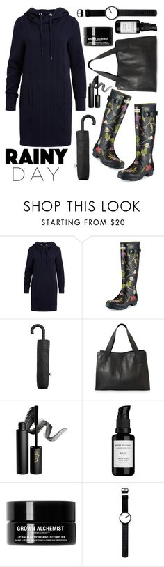 """Gloomy Day"" by ayiarundhati ❤ liked on Polyvore featuring Object Collectors Item, Hunter, MANGO, INIKA, Root Science, Grown Alchemist and Rosendahl"