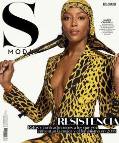 Naomi Campbell Models Versace's Statement Prints for S Moda Carmen Dell'orefice, Naomi Campbell, Divas, Six Models, Black Models, Versace Fashion, Versace Versace, Fashion Cover, Fashion Photo