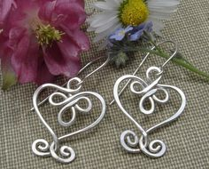 Think Valentine... Celtic Hearts and Swirls Sterling Silver by nicholasandfelice, $24.00
