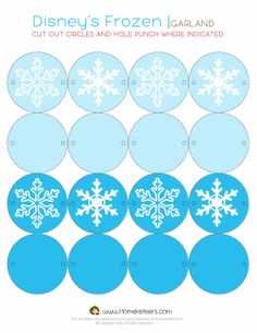 Frozen Party: Free Printables. |   #DecoraciónCumpleFrosen #SorpresaCumpleFrosen  #ComidaCumpleFrosen