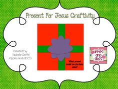 Apples and ABC's: A Present for Jesus Craftivity
