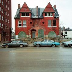 Abandoned Houses in Detroit, Michigan, photography by Kevin Bauman.