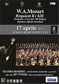 W. A. #MOZART #REQUIEM – Stasera 17aprile ore 21.15 – Teatro Rossini - #TeatriDICivitanova