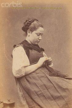 Woman Knitting, 1868