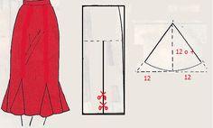 El costurero de Stella: Falda con godets, quillas o nesgas postizas