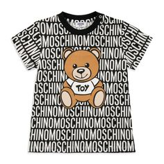 3cf852c94 MOSCHINO Baby Boys Teddy Bear T-Shirt - Black Baby short sleeve t-shirt