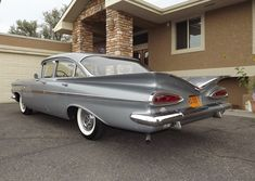 """1959 Chevrolet. My brother, Billy and I use to call these back lights at night """"cat """"eyes"""". We would count how many we could see."""