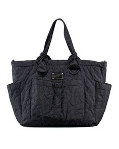 Pretty+Eliza+Baby+Bag,+Black+by+MARC+by+Marc+Jacobs+at+Neiman+Marcus.