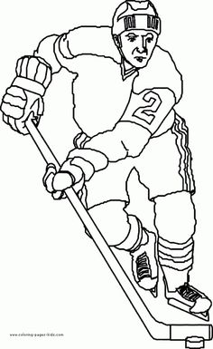 Fantastic and super coloring page for kids who love ice hockey. Hockey fans who like to color will love these 10 illustrations depicting the sport's Sports Coloring Pages, Online Coloring Pages, Coloring Pages To Print, Printable Coloring Pages, Coloring Pages For Kids, Coloring Sheets, Coloring Books, Adult Coloring, Hockey Decor