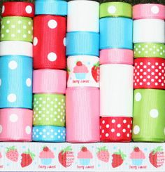 Berry Sweet Grosgrain Ribbon Lot 24YDS by FaithRibbonsDotCom