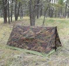 If you have a tarp in your Bug Out Bag you need to take a look at this tent. The Texsport Camouflage Trail tent sells for around $30 dollars, and with a few tweaks makes for a good emergency shelter option.