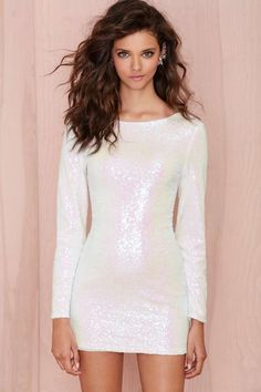 Glamorous Let It Snow Sequin Dress | Shop Clothes at Nasty Gal