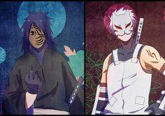 Obito and Kakashi ^. Kakashi And Obito, Naruto Shippuden, Boruto, Tobi Mask, Kitsune Mask, Manga Characters, Fictional Characters, Hotarubi No Mori, Naruto Images
