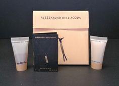 Alessandro Dell Acqua Eau de Toilette Silk Body Milk Shower Gel Sample .05 oz  #AlessandroDellAcqua