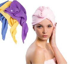 Free Shipping Magic Turban Hair Drying Towel Fast Dryer Cap Hat Microfibre For Bath Towel