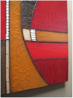Abstract painting MODERN TEXTURES ART wall sculpture 36x48