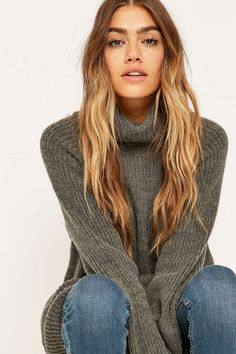 Light Before Dark Chunky Turtleneck Jumper