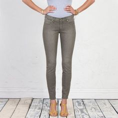 Ideal Skinny Jean Light Moss now featured on Fab.