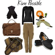 I just made this outfit!! I can't wait to be Kim Possible for Halloween.