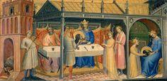 Lorenzo Monaco - Herod's banquet; Salome with the head of the Baptist