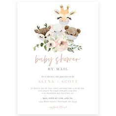 Jungle Safari Baby Shower by Mail Invitation | Forever Your Prints