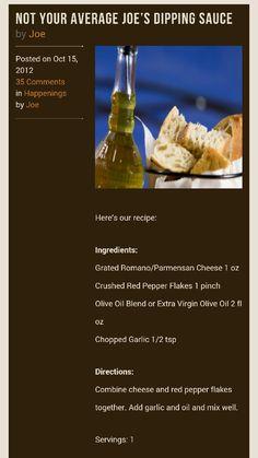 Not your average joe olive oil dip