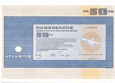 Lot: 4 Atlantis Luftverkehrsunternehmen 50DM Frankfurt 1972