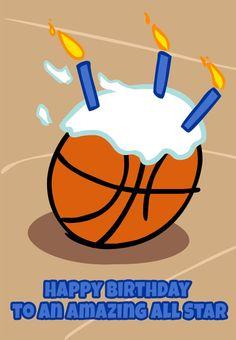 #Birthday #Card Free Printable Basketball Greeting Card Birthday