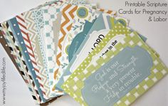 Pregnancy, labor and delivery scripture cards