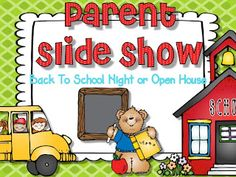 Editable power point presentation for parent night, back to school night, or open house.