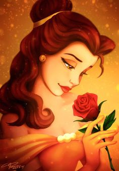 Belle and her red rose