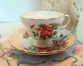 Bone China Teacup and Saucer Made in England