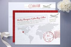 Travel-Inspired Invitation Round-Up  Read more - http://www.stylemepretty.com/destination-weddings/2011/06/14/travel-inspired-invitation-round-up/