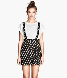 H&M Skirt with Suspenders $14.95 not loving the print but skirt with suspenders... need I say more?